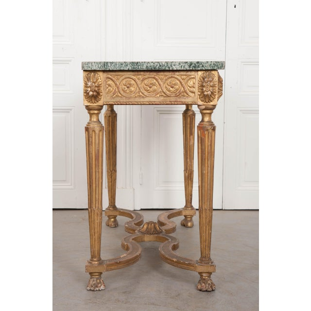 Gold 18th Century Period Louis XVI Gold Gilt Console For Sale - Image 8 of 13