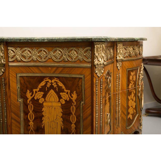 Louis XVI Transitional Style Inlaid Commode For Sale - Image 4 of 9