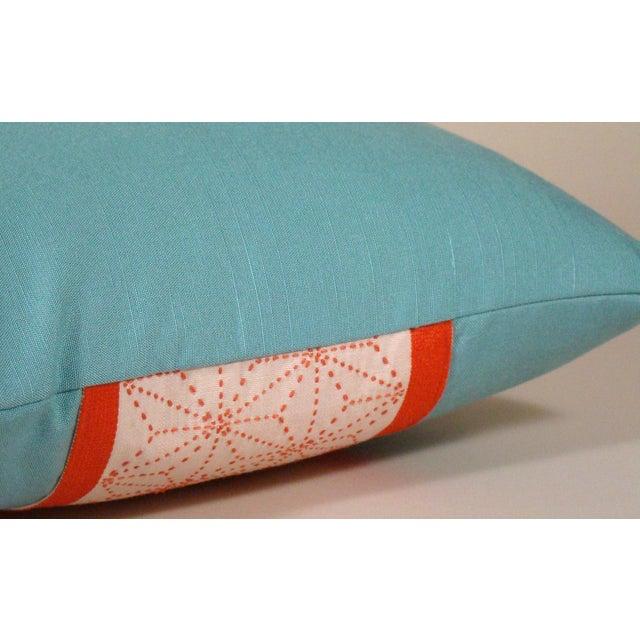 Cotton Japanese Sashiko Obi Pillow Cover For Sale - Image 7 of 9