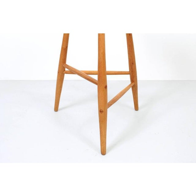 Wood 1980s Barstool by Horace B. Hartshaw For Sale - Image 7 of 12