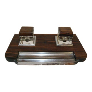 French Macassar Inkwell For Sale