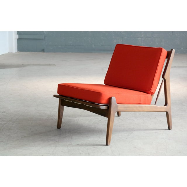 Ib Kofod-Larsen Lounge or Slipper Chair Danish Midcentury For Sale - Image 11 of 11