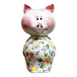 1960s Mid Century Italian Ceramic Piggy Bank For Sale