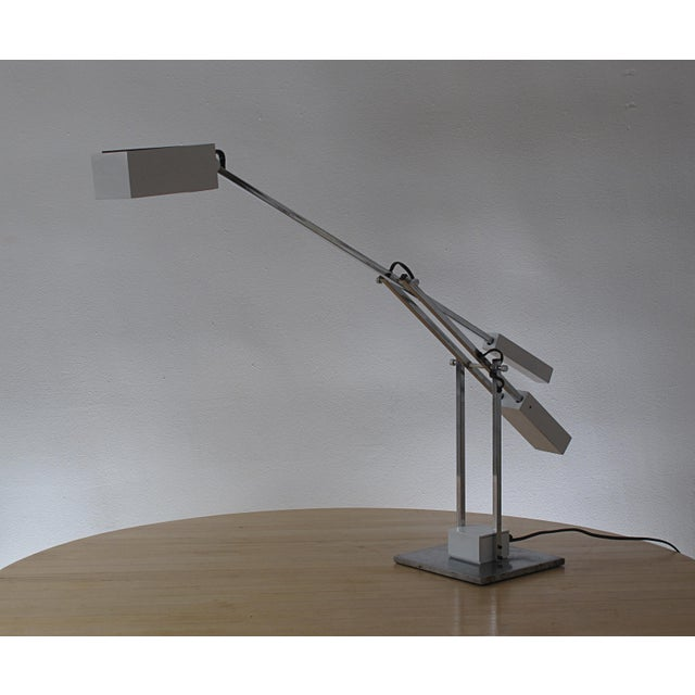Mid-Century Modern Robert Sonneman Articulated Table Lamp For Sale - Image 3 of 9