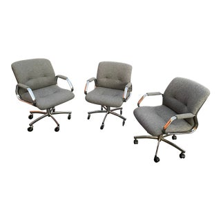 Vintage Mid Century Steelcase Office Chairs - Set of 3 For Sale