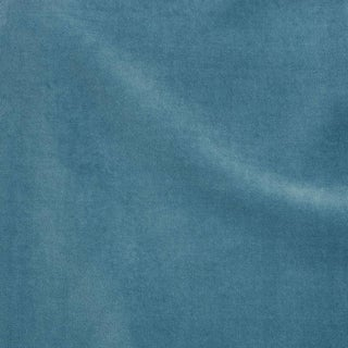 Schumacher Rocky Performance Velvet Fabric in Ocean For Sale