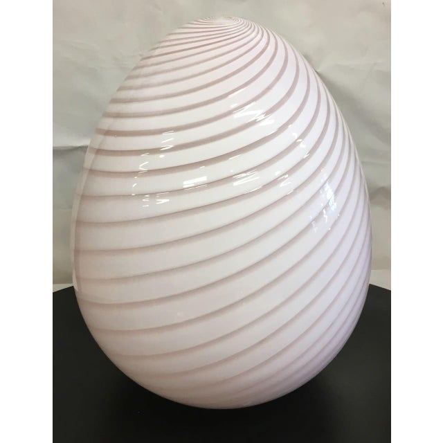 Vintage Murano Glass Egg Lamp For Sale In Tampa - Image 6 of 6