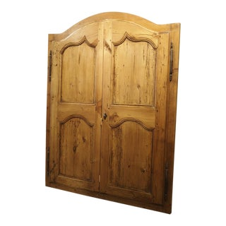 Pair of Antique French Pine Cabinet Doors, 19th Century For Sale