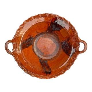 Massive Glazed Terra-Cotta Bowl For Sale