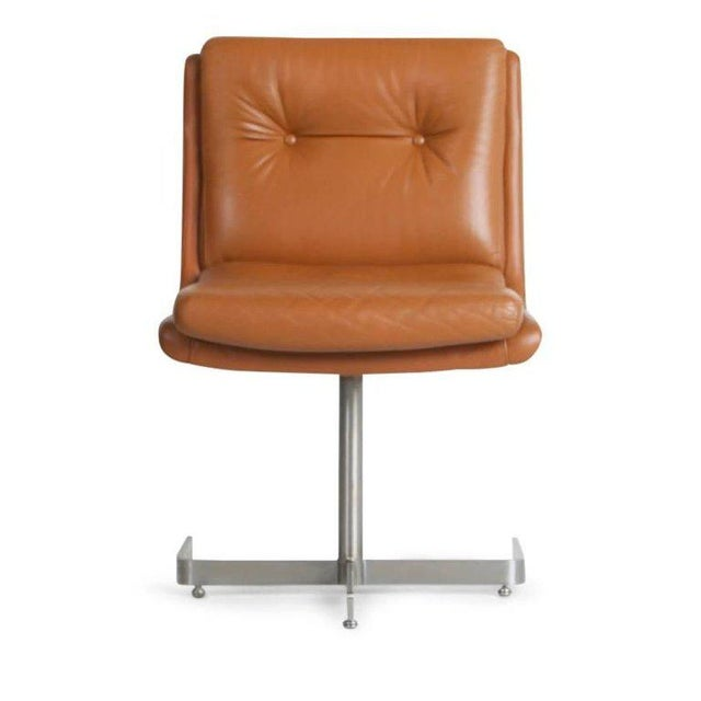 Contemporary 1970s Vintage Raphael French Leather Lounge Chairs- Set of 4 For Sale - Image 3 of 13