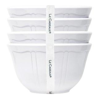 Terra White Melamine Dessert Bowls, Set of 4 For Sale