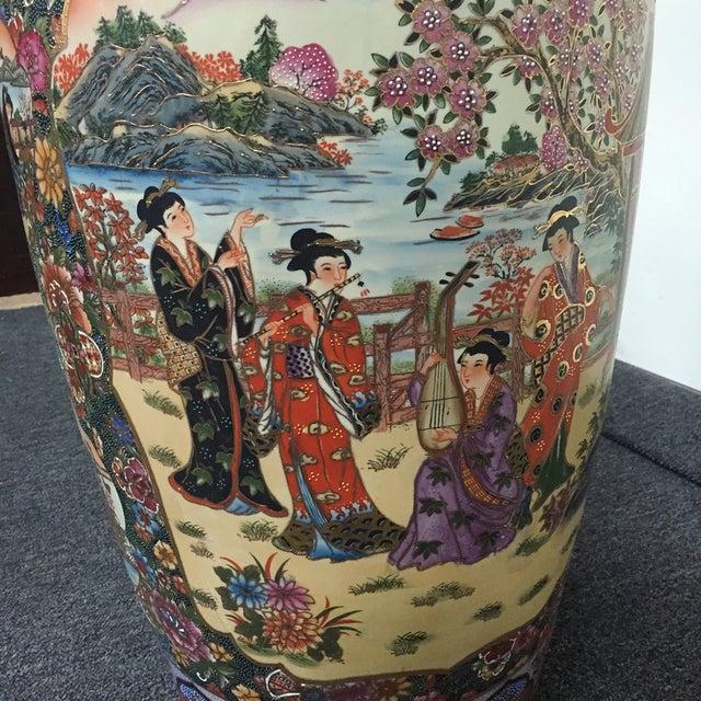 Asian Golden Floral Vase - Image 3 of 7