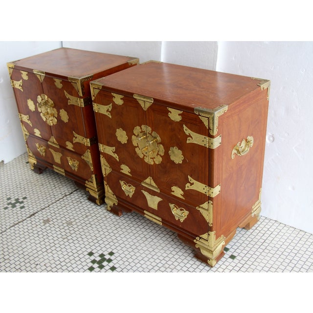 Asian-Style Butterfly Chests - Pair - Image 4 of 8