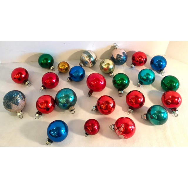 Mid 20th Century Americana Holiday Christmas Glass Ornaments - Set of 24 For Sale - Image 5 of 5