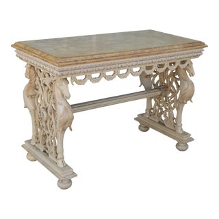 Solid Wood Vintage Console Table