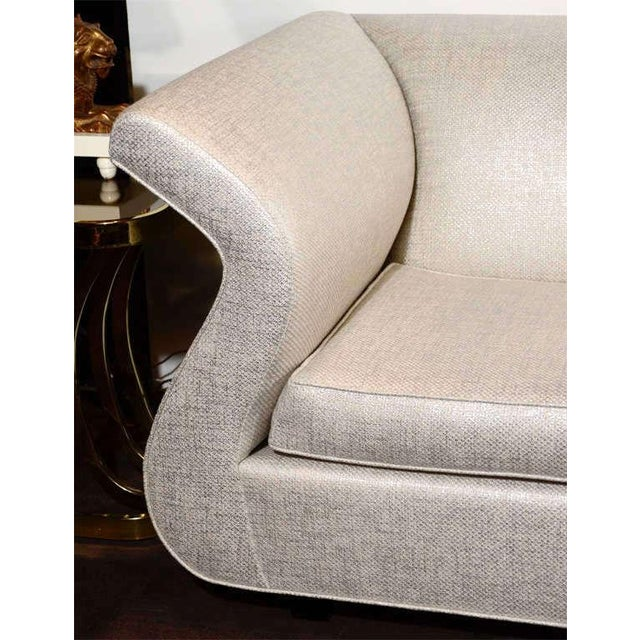 Wood Hollywood Regency Swan Sofa Designed by Dialogica For Sale - Image 7 of 11