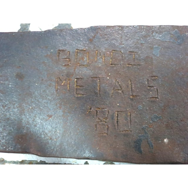 Sculptural Hand Forged Iron Dining Table Base by Stephen Bondi (1948-2004) For Sale In San Francisco - Image 6 of 6