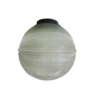 Holophane Ball Ceiling Glass Globe Pendant For Sale