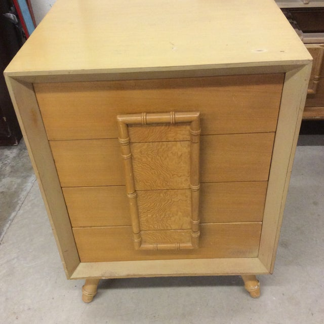 Faux Bamboo Dresser & Nighstand For Sale In Richmond - Image 6 of 13