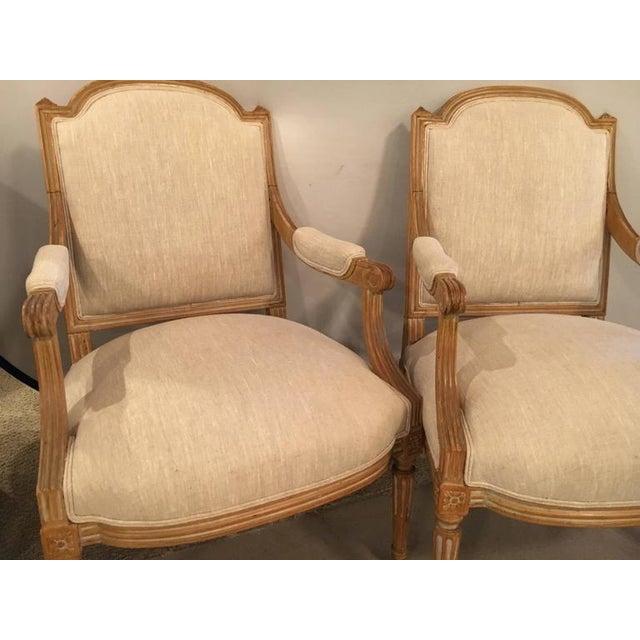 maison jansen louis xvi style fauteuil armchairs a pair chairish. Black Bedroom Furniture Sets. Home Design Ideas
