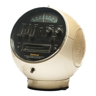 Weltron Model 2001 Space Ball, Am/Fm Radio 8 Track Stereo & 42 Tapes For Sale