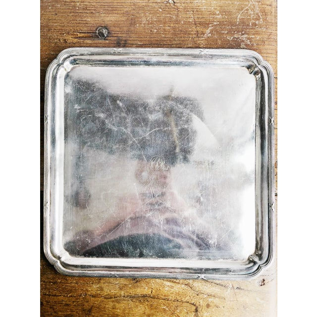 A wonderful antique circa 1914 heavy silverplated serving tray from a Canadian Pacific Railway train car! In good...
