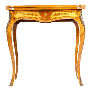 Kingwood / Mounted Bronze Details Card Table For Sale
