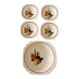 Homer Laughlin Mexicana Decalware Bowl Set - 5 Pieces