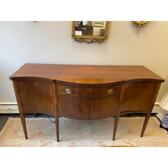1876 Hepplewhite Mahogany Sideboard For Sale - Image 10 of 10