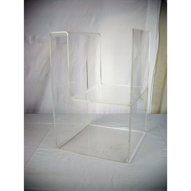 Large Lucite 2-Level Magazine Rack For Sale - Image 9 of 9