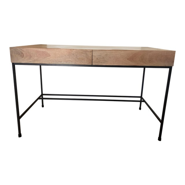 West Elm Industrial Storage Desk For Sale