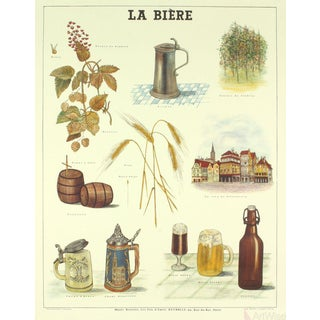 Emile Deyrolle, La Biere, Lithograph For Sale