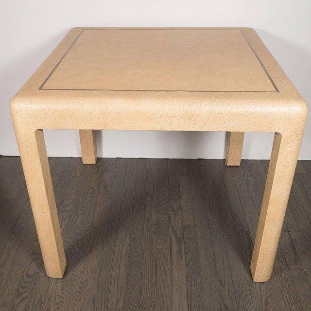 Karl Springer Signed Mid-Century Modern Ostrich Game Table by Karl Springer For Sale - Image 4 of 11