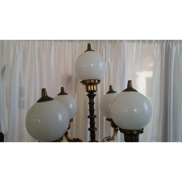 Mid-Century Saloon Bar Globe Floor Lamp - Image 10 of 11