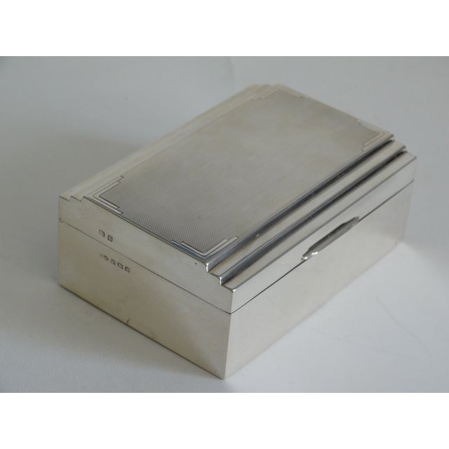 1930s Art Deco Sterling Silver Table Box For Sale - Image 5 of 10