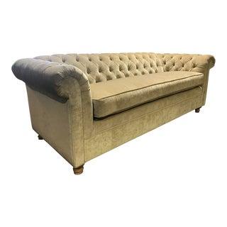Arhaus Tufted Velvet Sofa