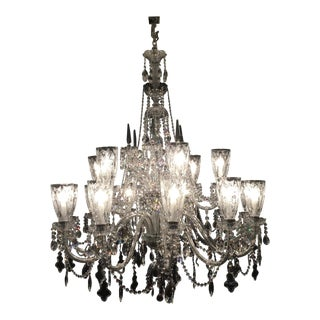 Vintage Czech Crystal Chandelier For Sale