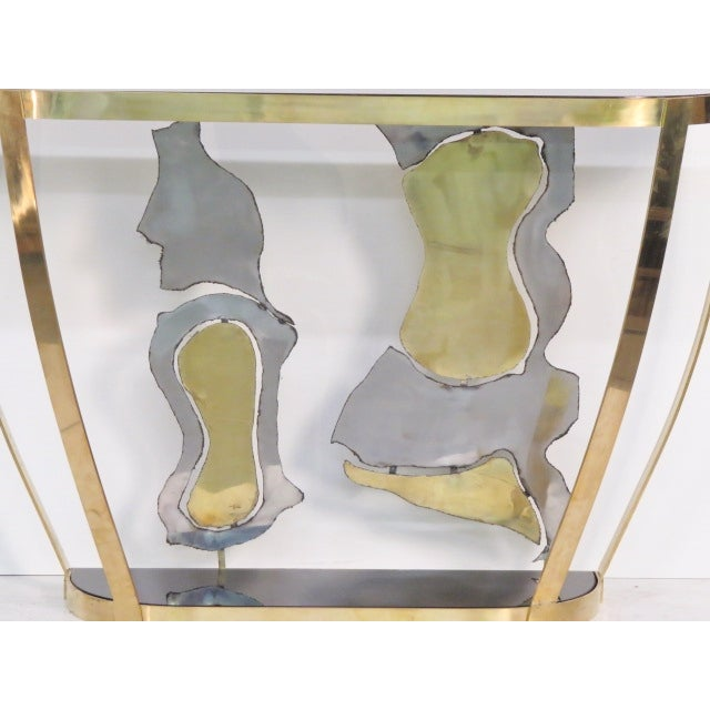 Italian Modern Sculptural Console Tables - Pair - Image 2 of 7
