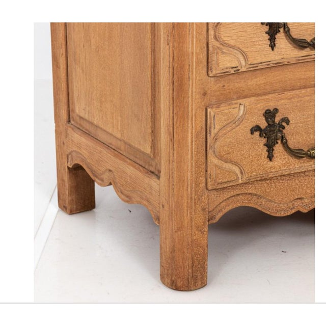 Vintage Bleached Oak Commode For Sale In New York - Image 6 of 10
