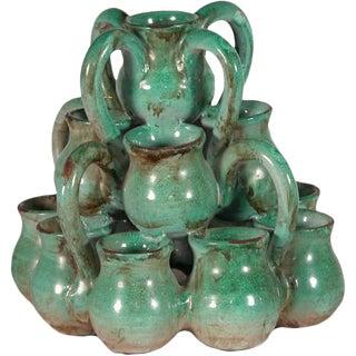 Glazed Ceramic Cluster of Vessels For Sale