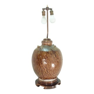 18th C. Japanese Ceramic Lamp For Sale