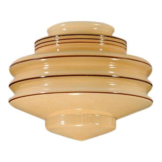 Art Deco Hand Blown Pendant Light Fixture