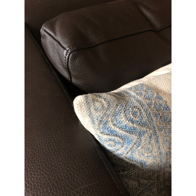 Animal Skin Restoration Hardware 1970s Design Modern U Chaise Sectional Leather Sofa For Sale - Image 7 of 8