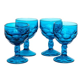 1960s Mid-Century Viking Stemmed Cordial Glasses - Set of 4 For Sale