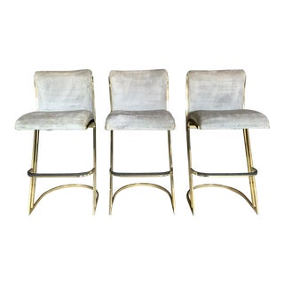 Pierre Cardin Style Brass Stools - Set of 3 For Sale