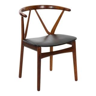 Mid Century Scandinavian Modern Rosewood Arm Chair by Henning Kjaernulf For Sale