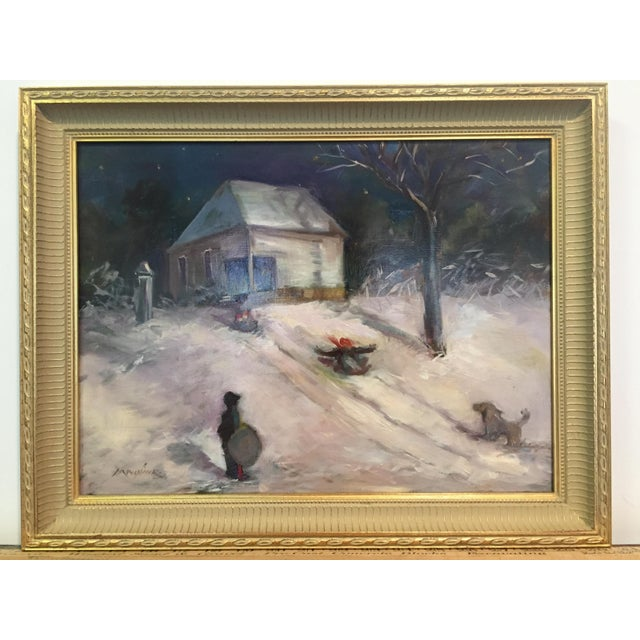 A lively depiction of an old abadoned school in Franklin County MO. This painting appeared in the Harlin Museum of the...