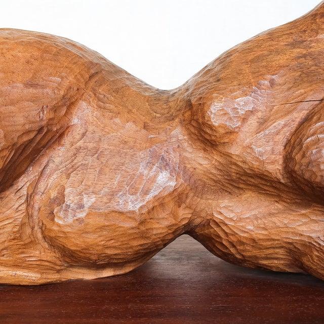 Mid-Century Modern Carved Nude Torso Sculpture - Image 4 of 10