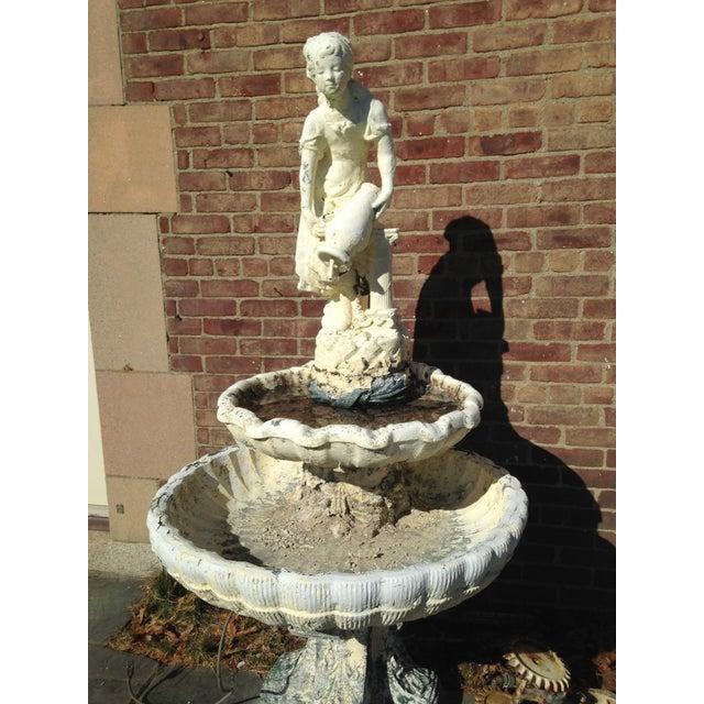 Vintage 1929 Outdoor Garden Fountain - Image 5 of 11