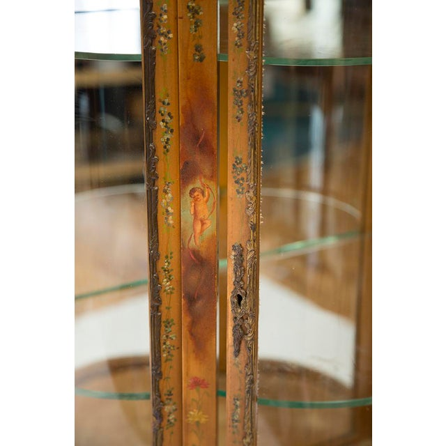 Gilded Vitrine Curio Cabinet For Sale - Image 10 of 10